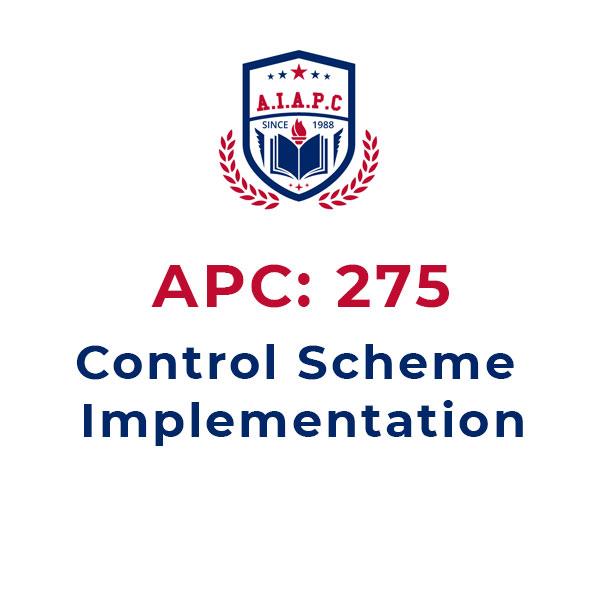 APC275: Control Scheme Implementation Online Course - aiapc.org