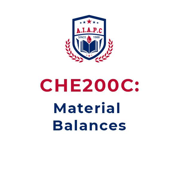 CHE200C: Material Balances Online Course - aiapc.org