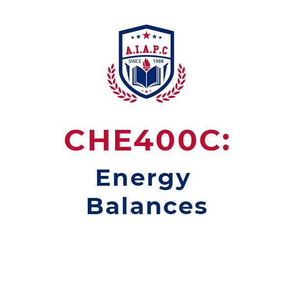 CHE400C: Energy Balances Online Courses - aiapc.org